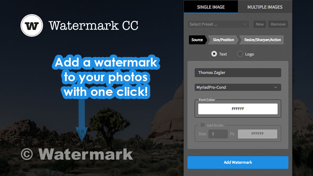 Watermark for Adobe Photoshop CC (English)