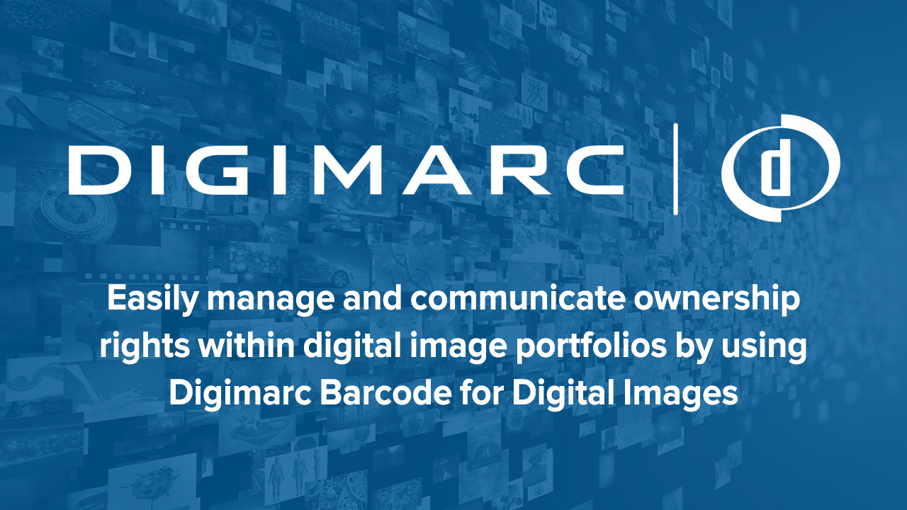 Digimarc Barcode for Digital Images