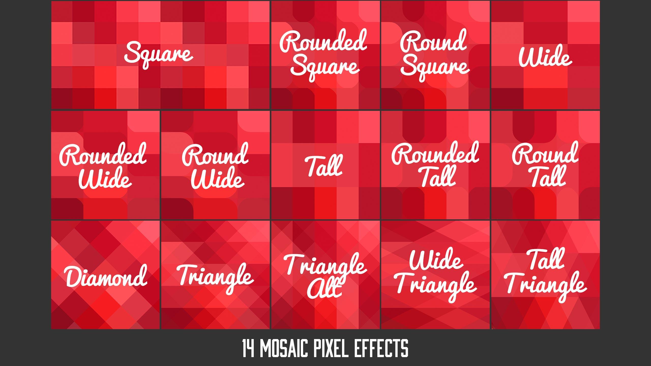 Pixelator 14 Mosaic Effects