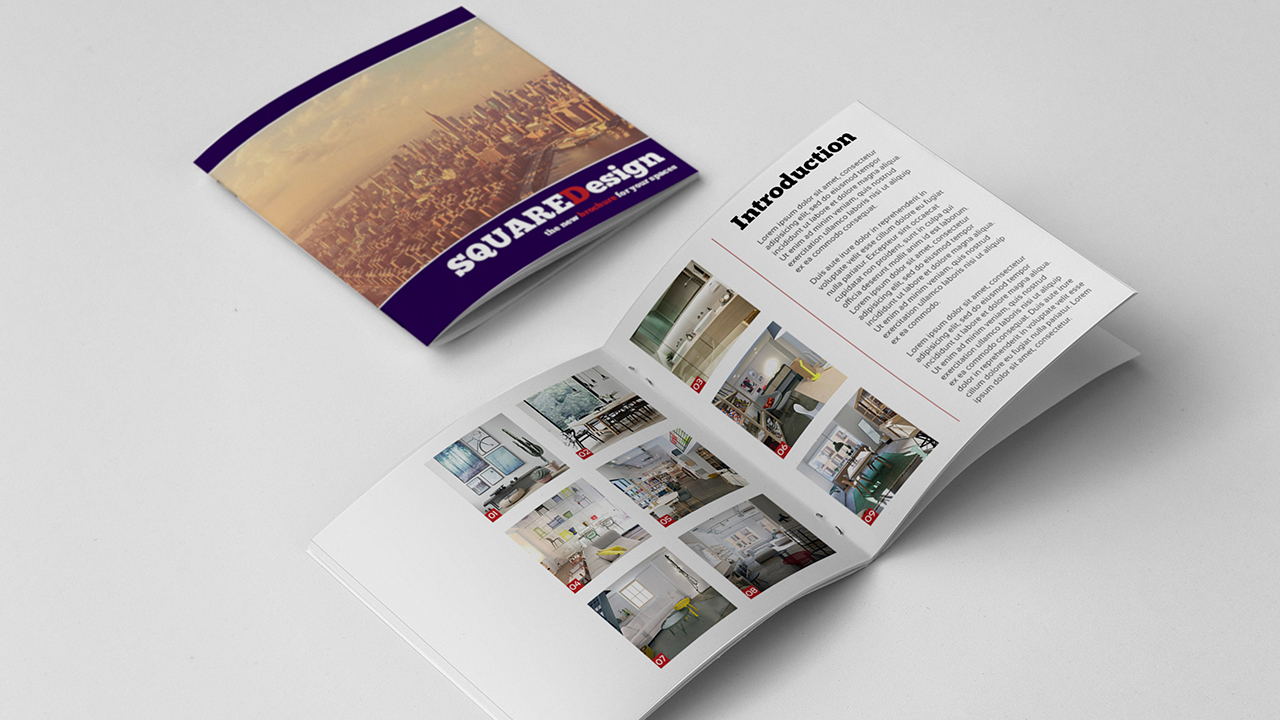 Square Design Brochure Template