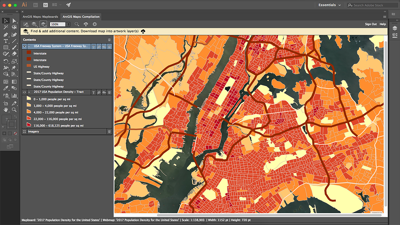 ArcGIS Maps for Adobe Creative Cloud on