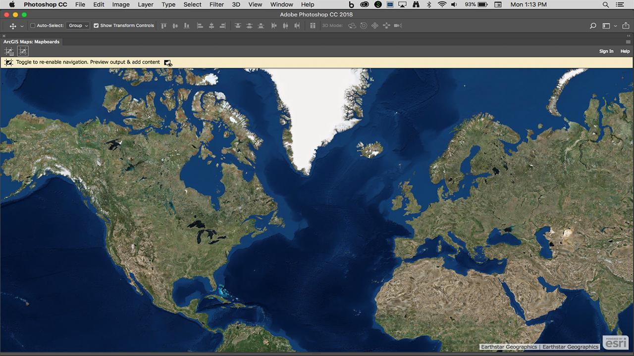 ArcGIS Maps for Adobe Creative Cloud