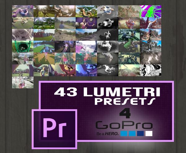 43 Lumetri Looks (GoPro Series)