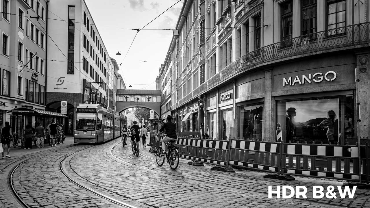 Black and white hdr presets