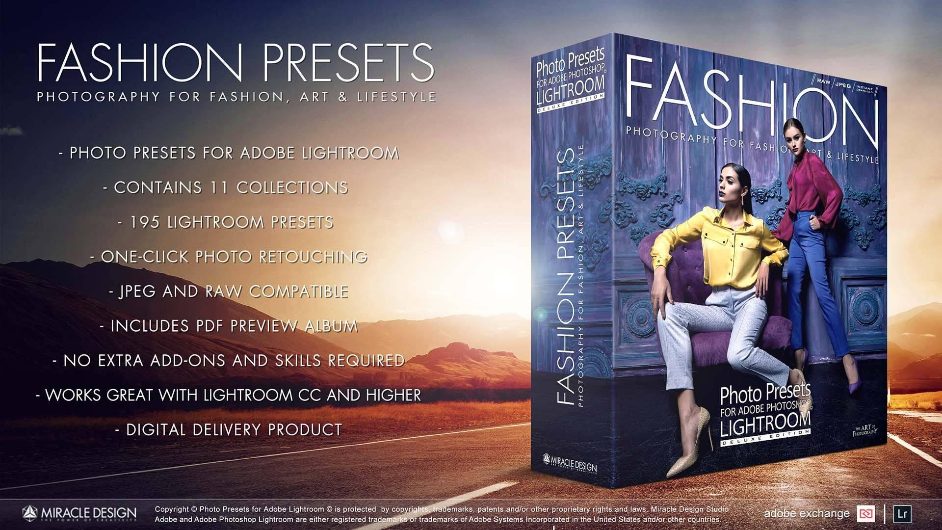 Presets For Lightroom Fashion Collection