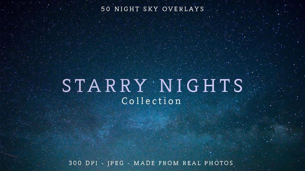 Night Sky and Stars Overlays