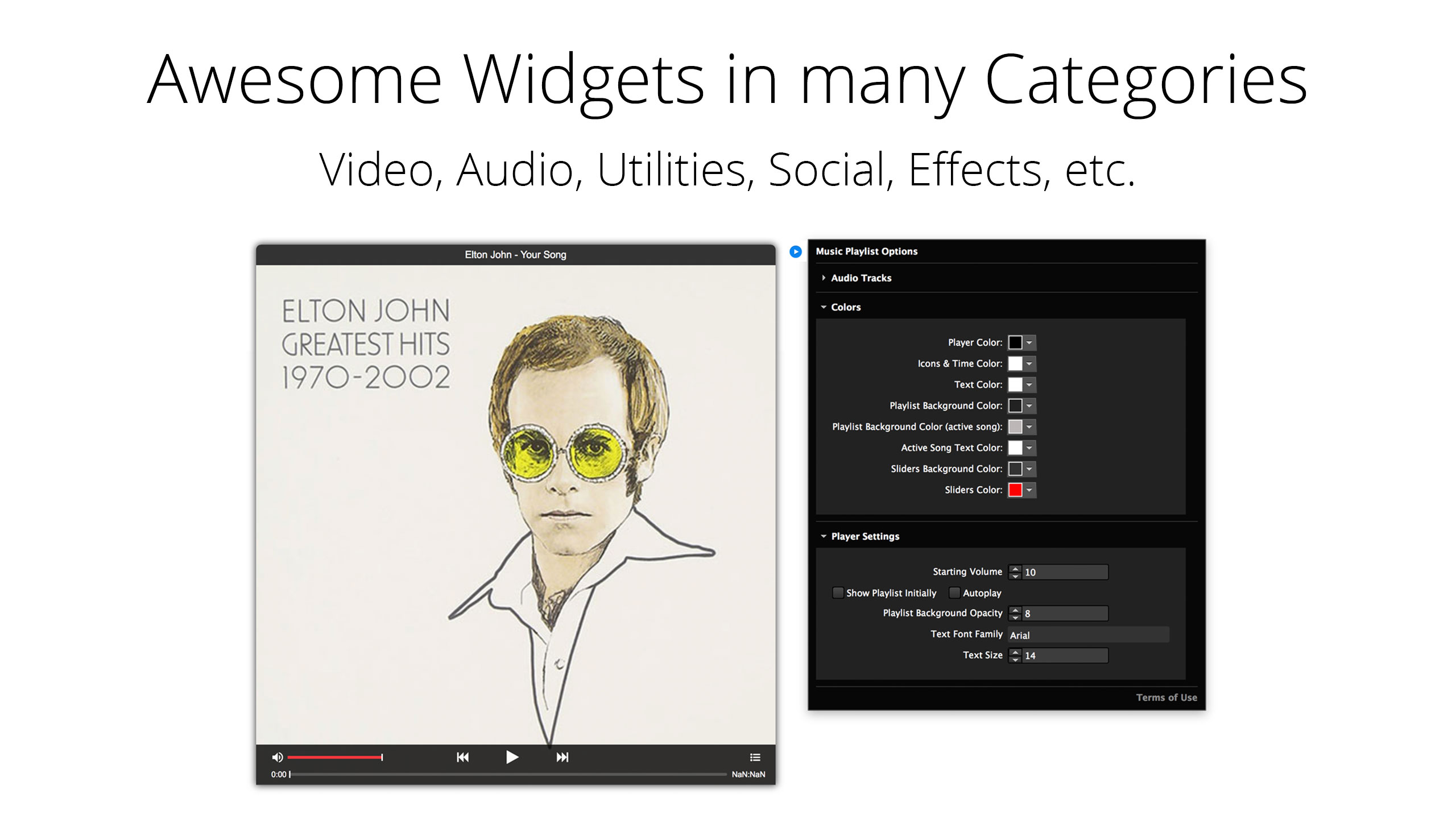 Widgets for Muse