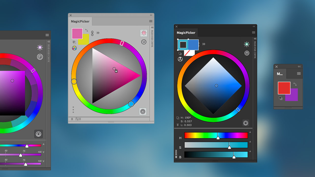 MagicPicker - Professional Photoshop Color Wheel