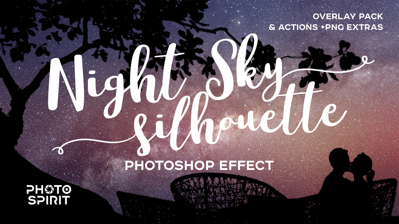 85 Night Sky Silhouette - Overlays And Actions