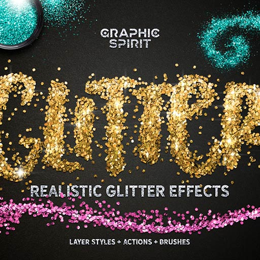 GLITTER PRO - Styles, Actions, Brushes