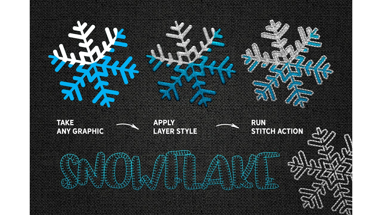 Effect STITCH: Brushes, Actions, Styles