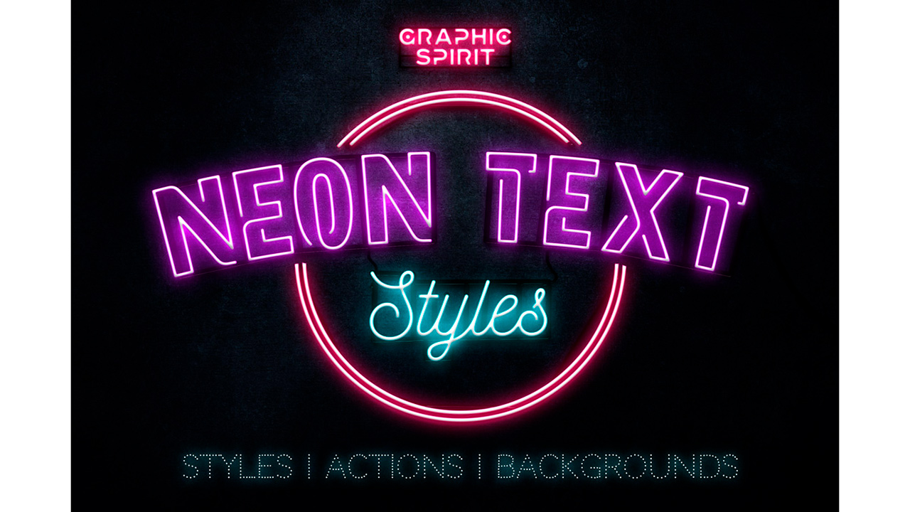 Neon Text Layer Styles And Extras